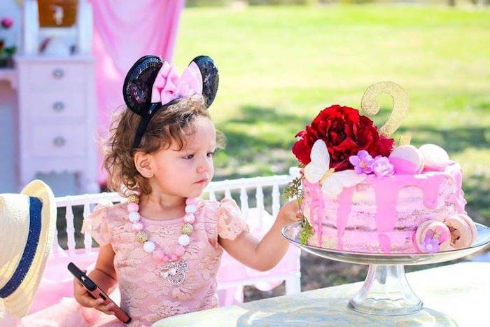 Kara S Party Ideas Minnie Mouse Oh Two Dles 2nd Birthday Tea Party Kara S Party Ideas