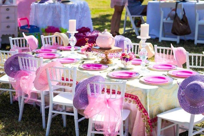 """Tea-time table from a Minnie Mouse """"Oh TWO-dles"""" 2nd Birthday Tea Party on Kara's Party Ideas 