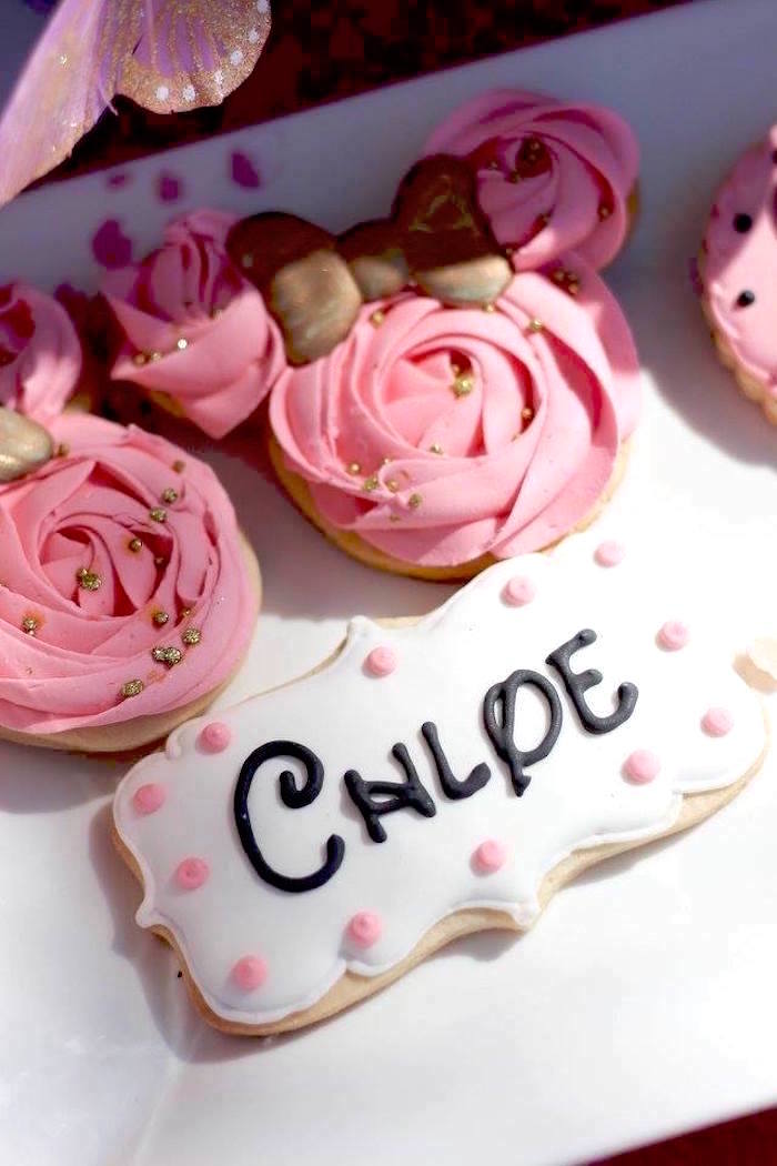 """Cookies from a Minnie Mouse """"Oh TWO-dles"""" 2nd Birthday Tea Party on Kara's Party Ideas 