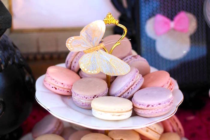"""Macarons from a Minnie Mouse """"Oh TWO-dles"""" 2nd Birthday Tea Party on Kara's Party Ideas 