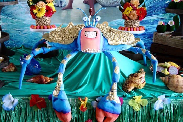 Tamatoa Crab Cake from a Moana Birthday Party on Kara's Party Ideas | KarasPartyIdeas.com (17)