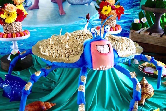 Tamatoa Crab Cake from a Moana Birthday Party on Kara's Party Ideas | KarasPartyIdeas.com (15)