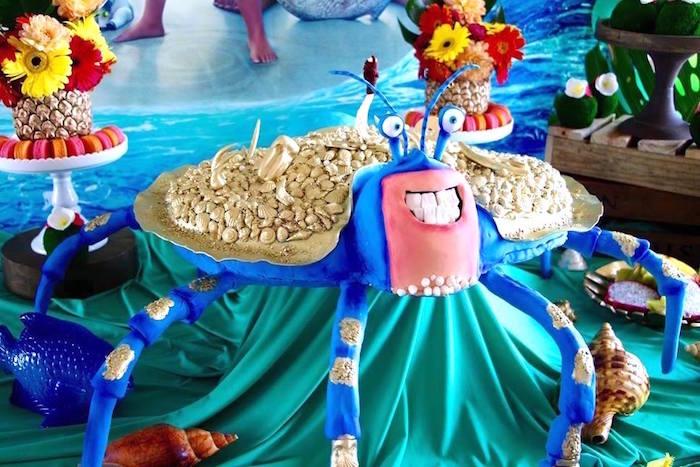 Tamatoa Crab Cake From A Moana Birthday Party On Karas Ideas
