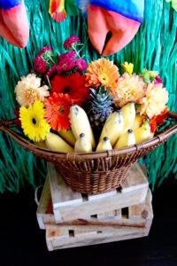 Fruit and flower bowl from a Moana Birthday Party on Kara's Party Ideas | KarasPartyIdeas.com (14)