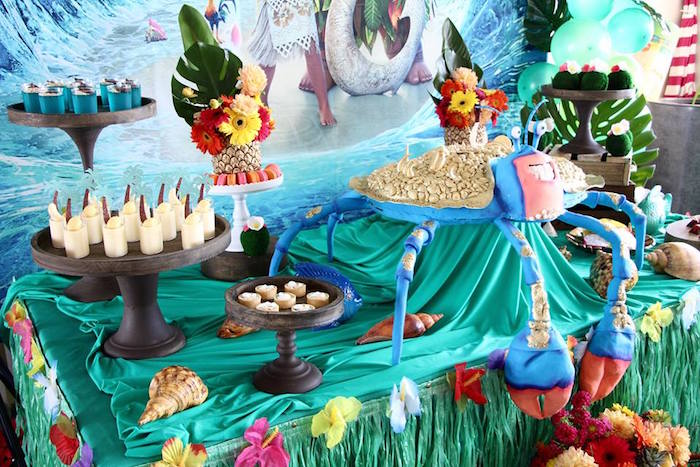 Dessert table from a Moana Birthday Party on Kara's Party Ideas | KarasPartyIdeas.com (27)