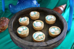 Ocean tarts from a Moana Birthday Party on Kara's Party Ideas | KarasPartyIdeas.com (8)