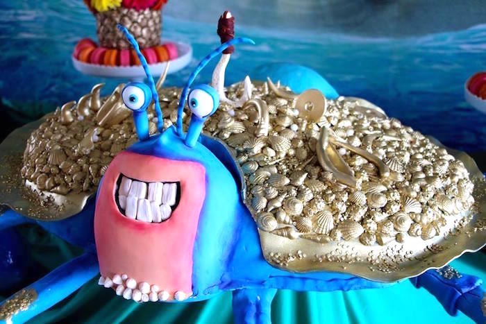 Tamatoa Crab Cake from a Moana Birthday Party on Kara's Party Ideas | KarasPartyIdeas.com (7)