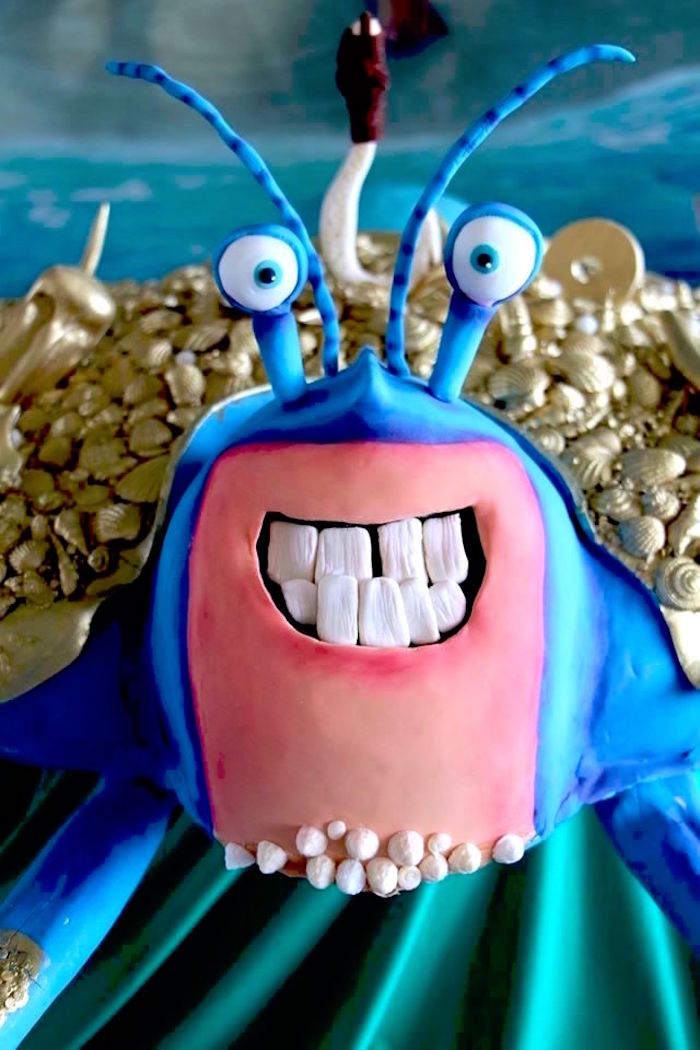 Tamatoa from a Moana Birthday Party on Kara's Party Ideas | KarasPartyIdeas.com (23)