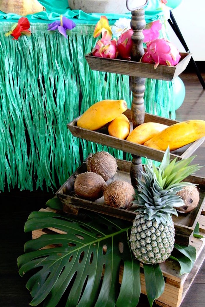 Tropical fruit tray from a Moana Birthday Party on Kara's Party Ideas | KarasPartyIdeas.com (21)
