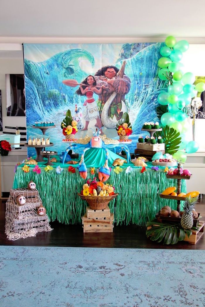 Kara 39 s party ideas moana birthday party for 5th birthday decoration ideas