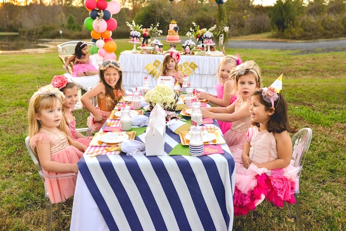Party table from a Modern Boho Princess Birthday Party on Kara's Party Ideas | KaraPartyIdeas.com (3)