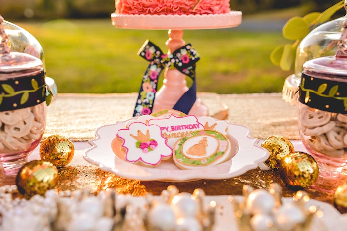 Cookies from a Modern Boho Princess Birthday Party on Kara's Party Ideas | KaraPartyIdeas.com (10)