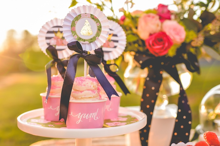 Cupcakes from a Modern Boho Princess Birthday Party on Kara's Party Ideas | KaraPartyIdeas.com (8)