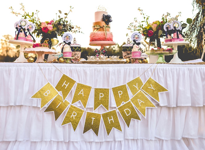 Modern Boho Princess Birthday Party on Kara's Party Ideas | KaraPartyIdeas.com (7)