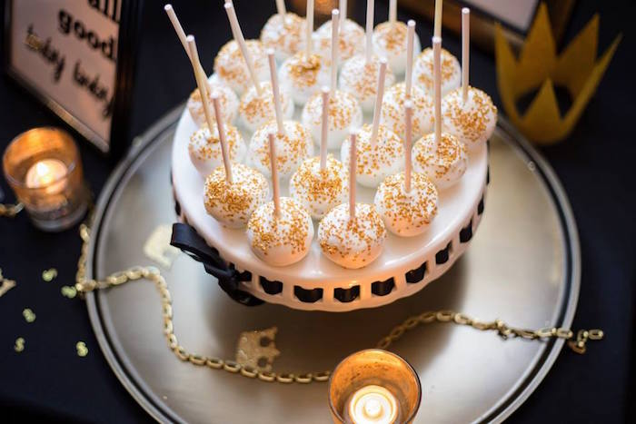Cake pops from a Notorious B.I.G First Birthday Party on Kara's Party Ideas | KarasPartyIdeas.com (25)