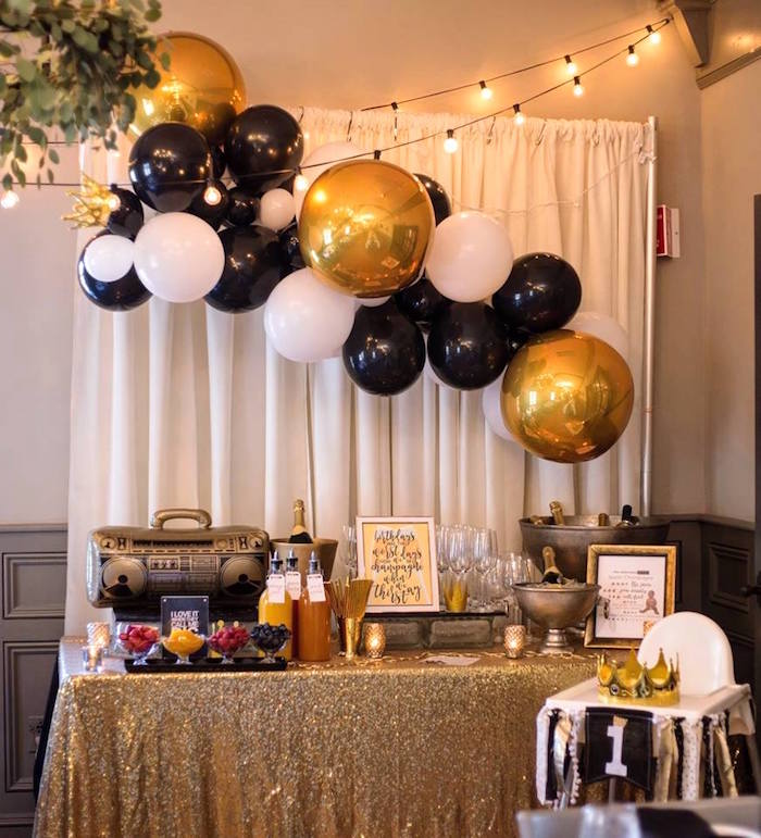 Drink table from a Notorious B.I.G First Birthday Party on Kara's Party Ideas | KarasPartyIdeas.com (13)