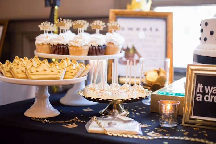 Dessert table from a Notorious B.I.G First Birthday Party on Kara's Party Ideas | KarasPartyIdeas.com (5)