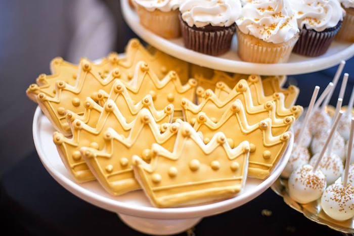 Crown cookies from a Notorious B.I.G First Birthday Party on Kara's Party Ideas   KarasPartyIdeas.com (37)