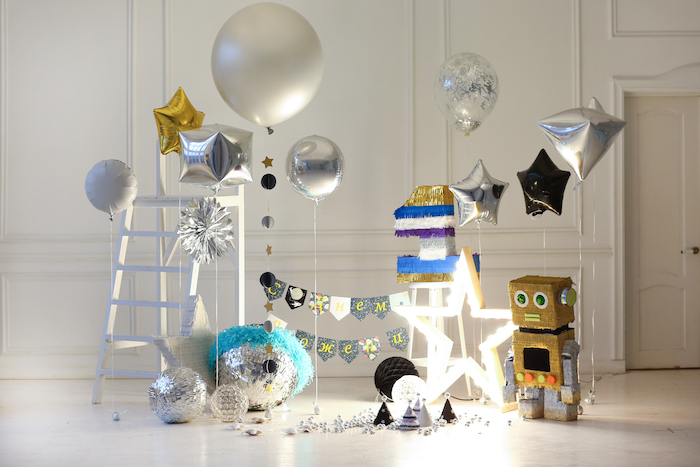 Kara 39 s party ideas outer space birthday party kara 39 s for Outer space decor ideas