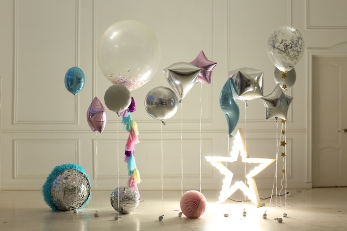 Star-lit balloons + decor from a Outer Space Birthday Party on Kara's Party Ideas | KarasPartyIdeas.com (5)