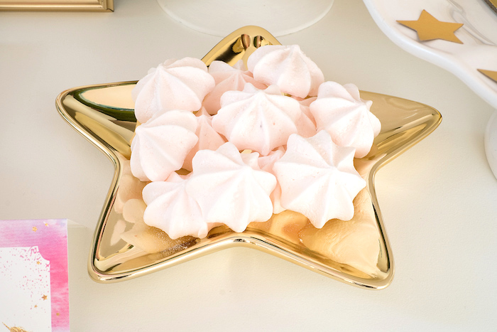 Magical meringue Cookies from a Pastel & Gold Unicorn Party on Kara's Party Ideas | KarasPartyIdeas.com (13)
