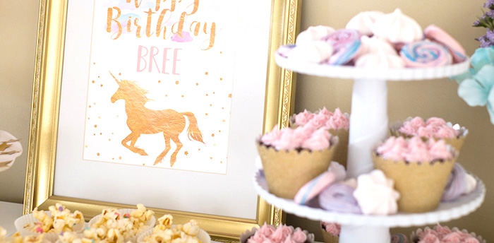 Pastel & Gold Unicorn Party on Kara's Party Ideas | KarasPartyIdeas.com (3)