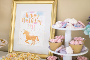 Happy Birthday Unicorn Print from a Pastel & Gold Unicorn Party on Kara's Party Ideas | KarasPartyIdeas.com (20)