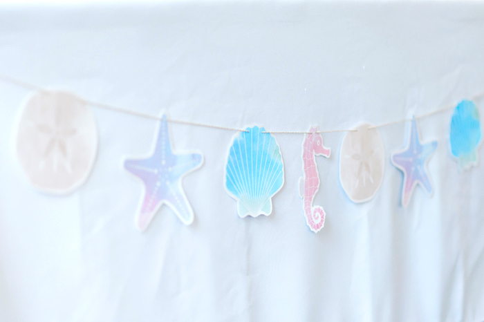 Shell + Under the Sea Banner from a Pastel Mermaid Birthday Party on Kara's Party Ideas   KarasPartyIdeas.com (27)
