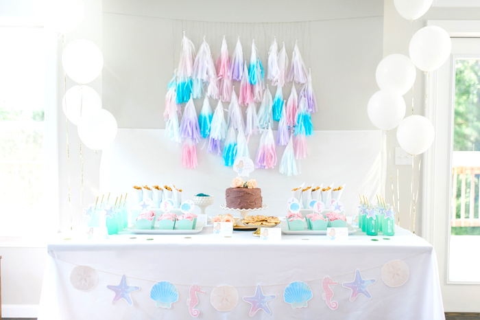 Pastel Mermaid Birthday Party on Kara's Party Ideas | KarasPartyIdeas.com (10)