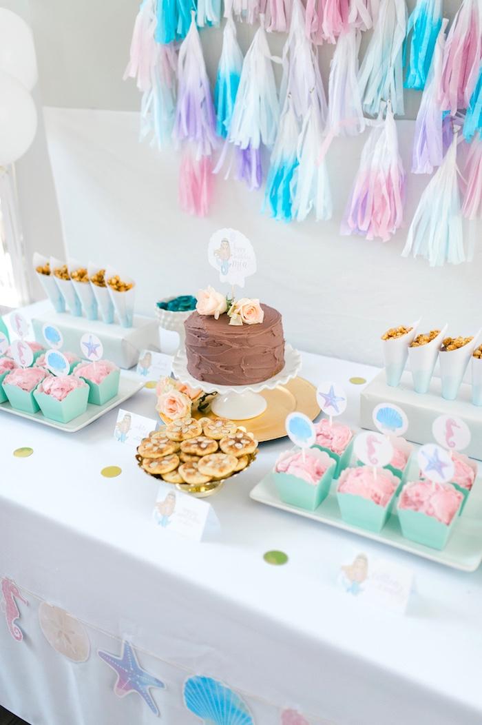Pastel Mermaid Birthday Party on Kara's Party Ideas   KarasPartyIdeas.com (8)