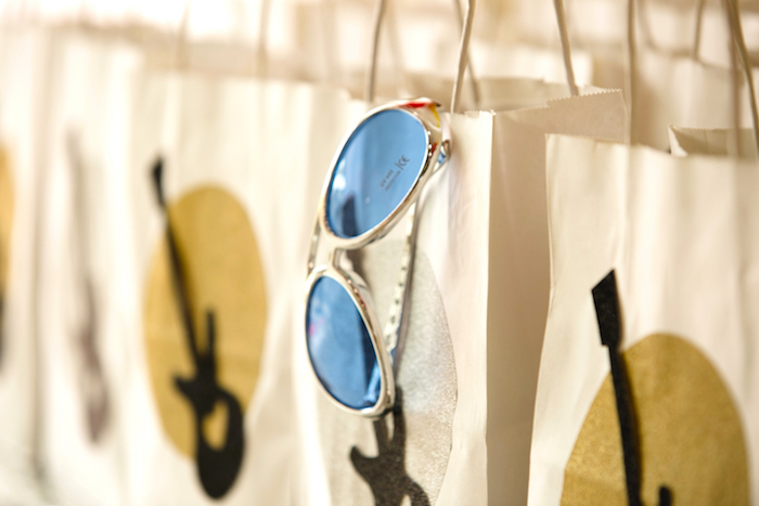 Sunglasses and favor bags from a Rock Star Birthday Party on Kara's Party Ideas | KarasPartyIdeas.com (15)
