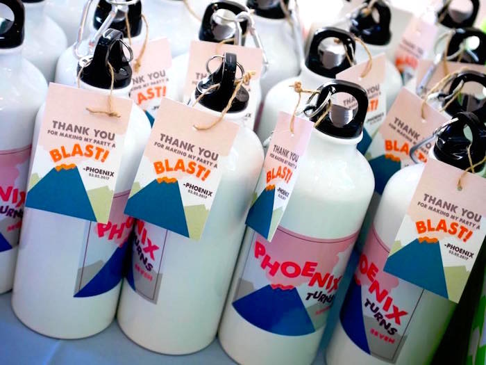Water bottle favors from a Rockin' Geology Birthday Party on Kara's Party Ideas | KarasPartyIdeas.com (14)