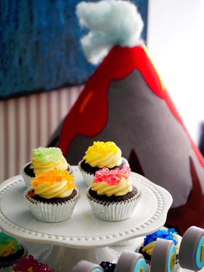 Rock crystal cupcakes from a Rockin' Geology Birthday Party on Kara's Party Ideas | KarasPartyIdeas.com (8)