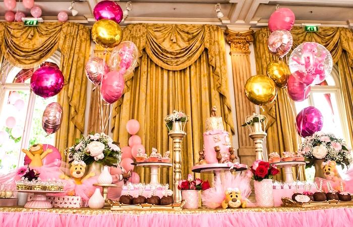 Dessert table from a Royal Teddy Bear Princess Baby Shower on Kara's Party Ideas | KarasPartyIdeas.com (7)