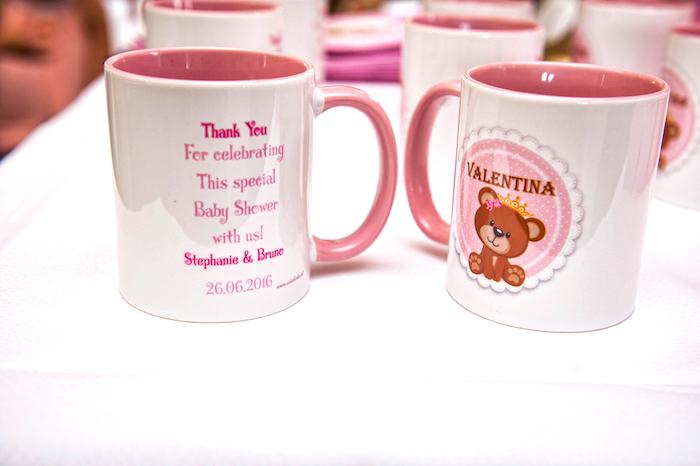 Teddy Bear mug favors from a Royal Teddy Bear Princess Baby Shower on Kara's Party Ideas | KarasPartyIdeas.com (6)