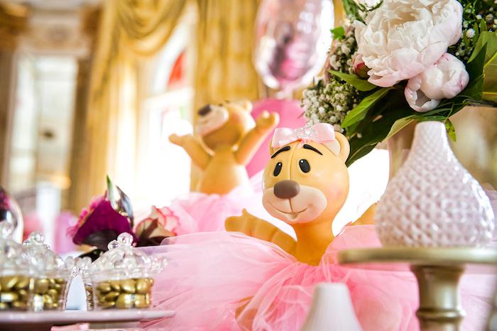 Teddy bear from a Royal Teddy Bear Princess Baby Shower on Kara's Party Ideas | KarasPartyIdeas.com (9)