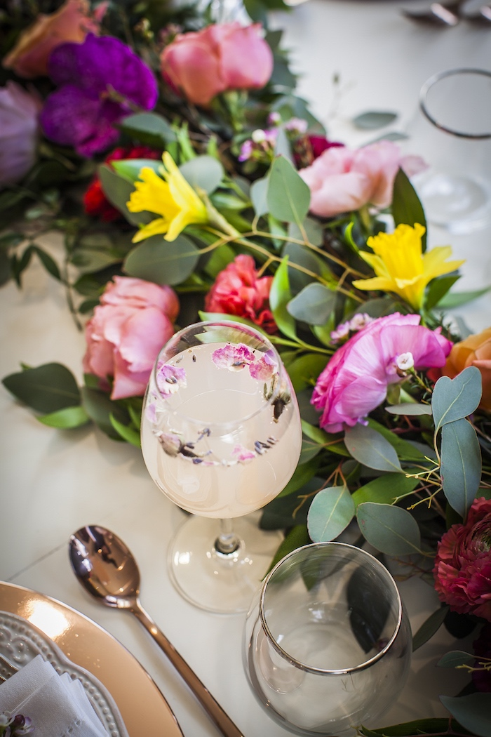 Floating flower drink from a Secret Garden Baby Shower on Kara's Party Ideas | KarasPartyIdeas.com (27)
