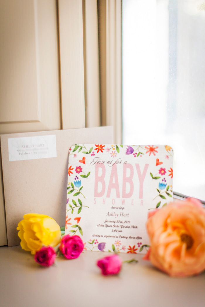 invitation from a secret garden baby shower on karas party ideas karaspartyideascom