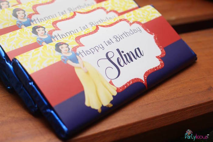Snow White chocolate bar wrapper from a Snow White & The Seven Dwarfs Birthday Party on Kara's Party Ideas | KarasPartyIdeas.com (27)