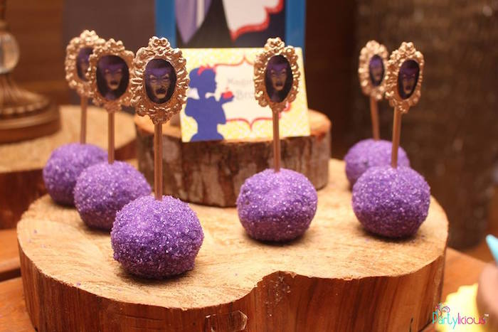 Magic Mirror cake pops from a Snow White & The Seven Dwarfs Birthday Party on Kara's Party Ideas | KarasPartyIdeas.com (26)