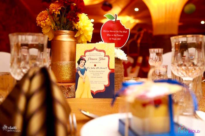 Invitation from a Snow White & The Seven Dwarfs Birthday Party on Kara's Party Ideas | KarasPartyIdeas.com (25)