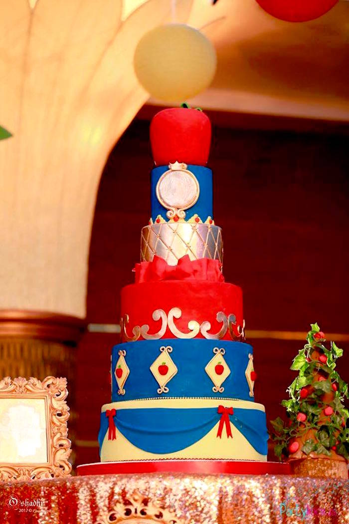 Snow White Birthday Cake from a Snow White & The Seven Dwarfs Birthday Party on Kara's Party Ideas | KarasPartyIdeas.com (18)
