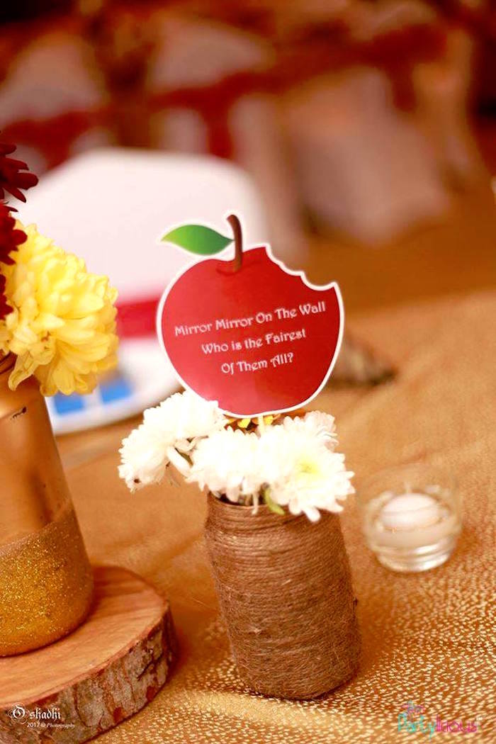 Apple & blooms from a Snow White & The Seven Dwarfs Birthday Party on Kara's Party Ideas | KarasPartyIdeas.com (35)