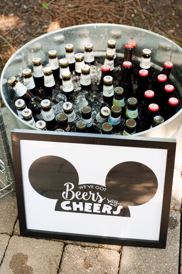 Drinks from a Steamboat Willie Classic Mickey Mouse Birthday Party on Kara's Party Ideas | KarasPartyIdeas.com (27)