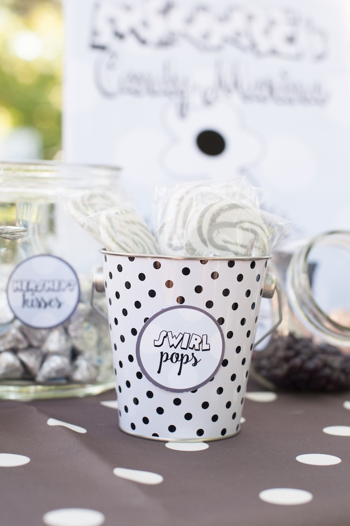 Swirl pops from a Steamboat Willie Classic Mickey Mouse Birthday Party on Kara's Party Ideas | KarasPartyIdeas.com (8)