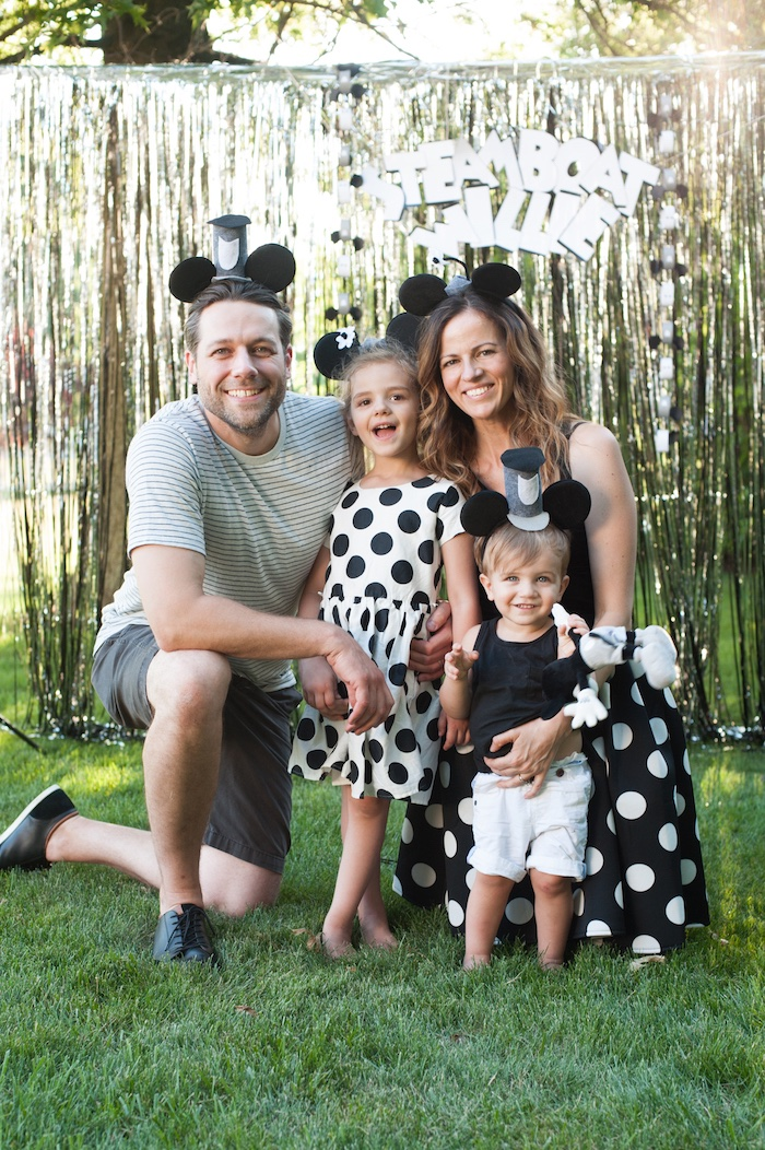 Photo booth fun from a Steamboat Willie Classic Mickey Mouse Birthday Party on Kara's Party Ideas | KarasPartyIdeas.com (4)
