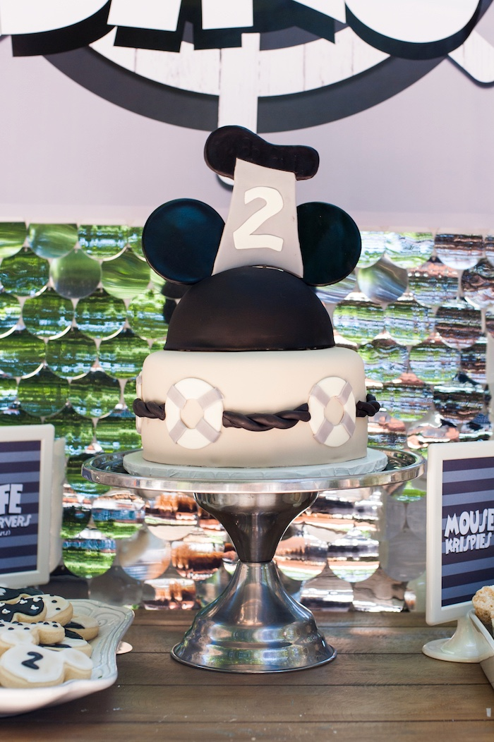 Steamboat Willie Cake from a Steamboat Willie Classic Mickey Mouse Birthday Party on Kara's Party Ideas | KarasPartyIdeas.com (34)