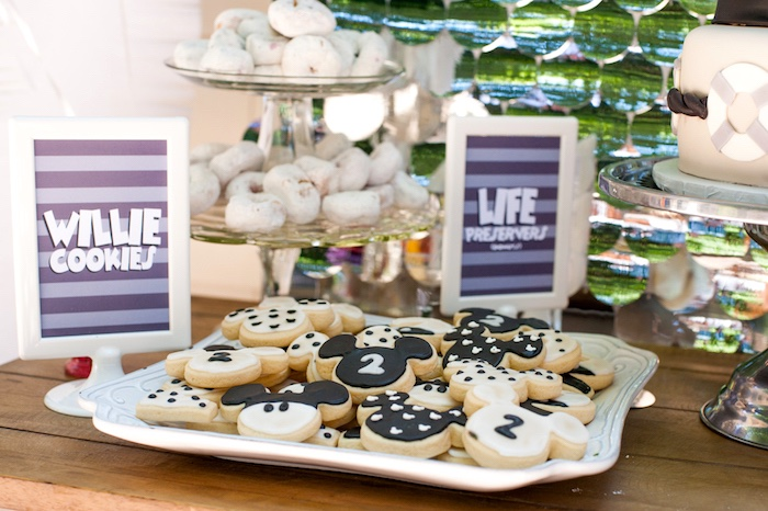 Willie Cookies from a Steamboat Willie Classic Mickey Mouse Birthday Party on Kara's Party Ideas | KarasPartyIdeas.com (33)