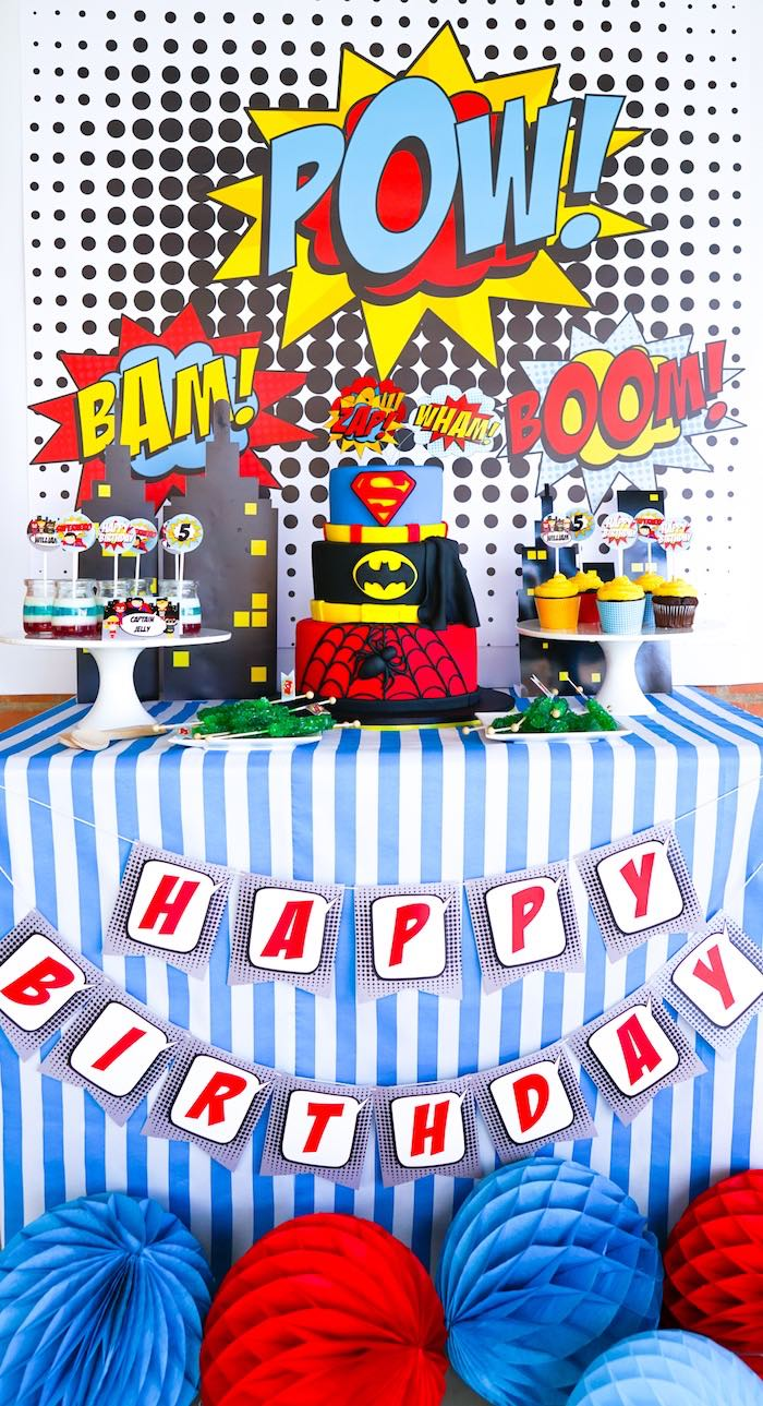Superhero Birthday Party on Kara's Party Ideas | KarasPartyIdeas.com (7)