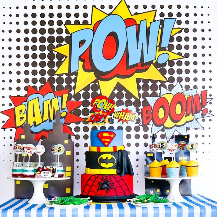 Cake Ideas For Superhero Party